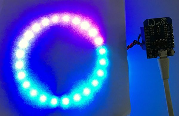 neopixel wemos web server fastled light-on