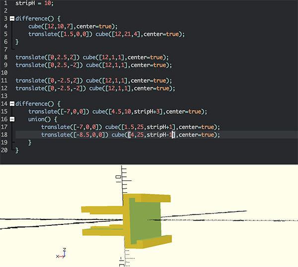 3D supports neopixel openscad