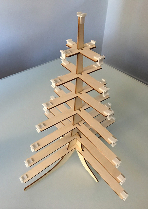 3D supports neopixel tree