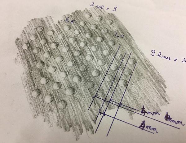 base rotante holes draw size