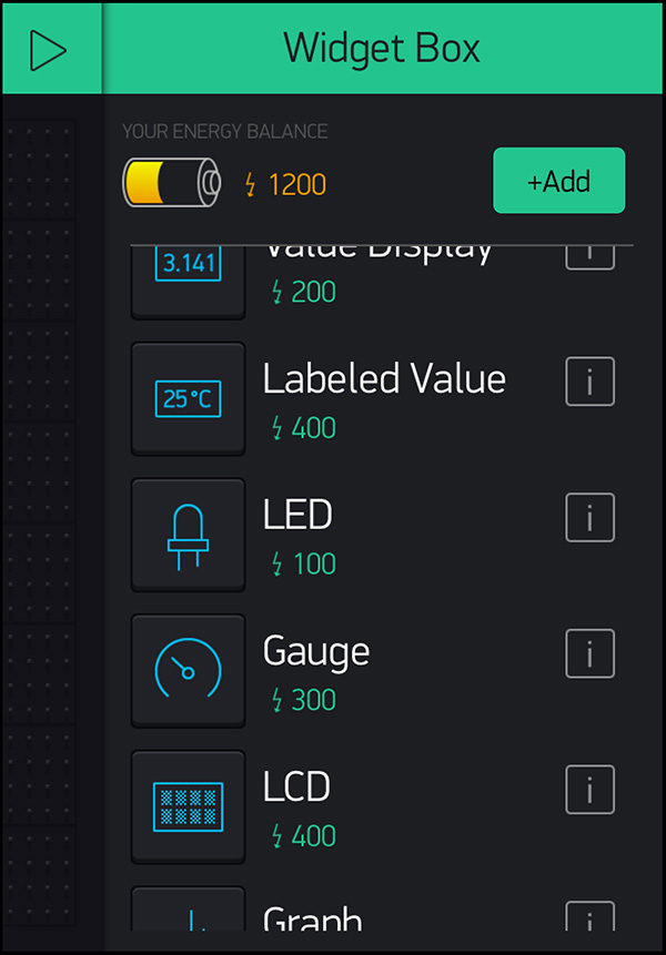 WeMos D1 mini DHT22 Blynk select widget