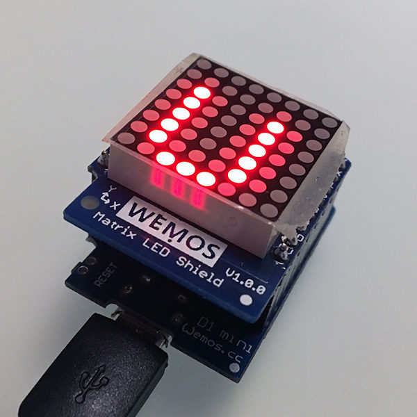 WeMos Matrix 8x8 led