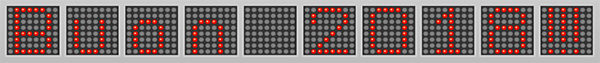 wemos matrix 8x8 character