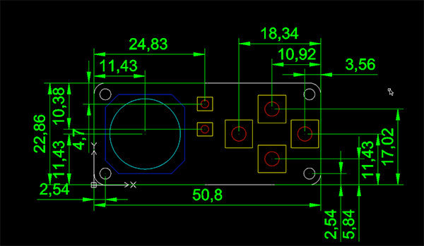 Feather joywing dwg dxf dimensions mm