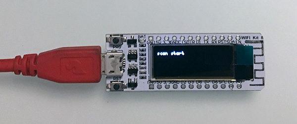 ESP8266 WIFI Kit8 OLED start wifi scan