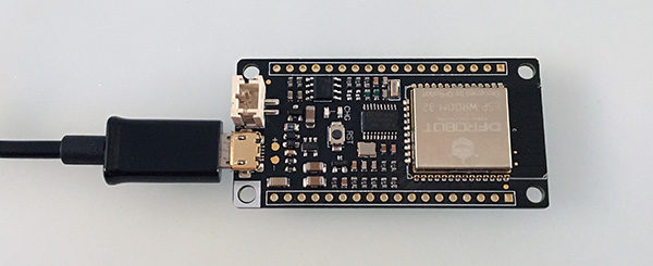 FireBeetle ESP32 connected