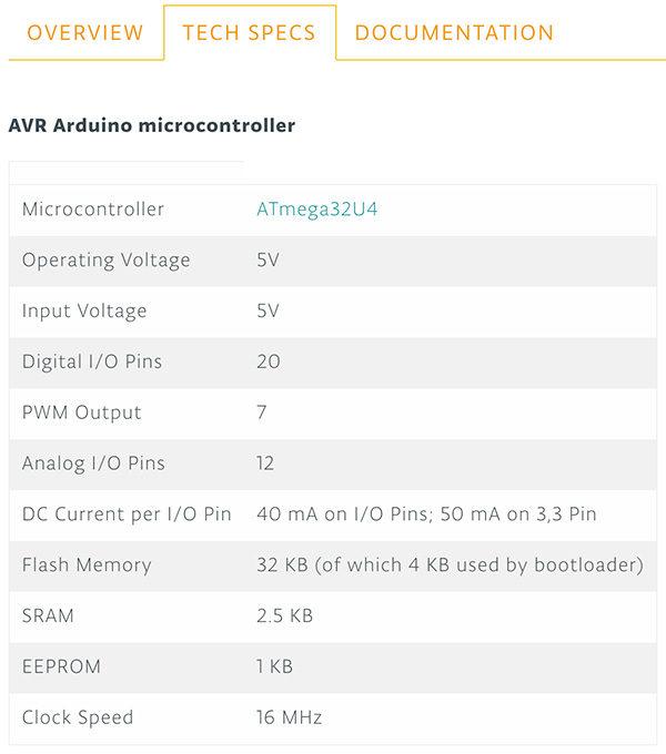 Arduino Yun Rev.2 spec tech
