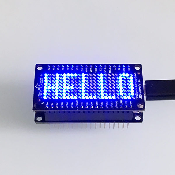 FireBeetle led Matrix Hello