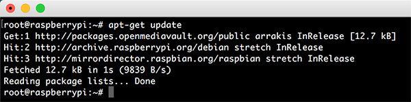 OpenMediaVault 4 apt get update success