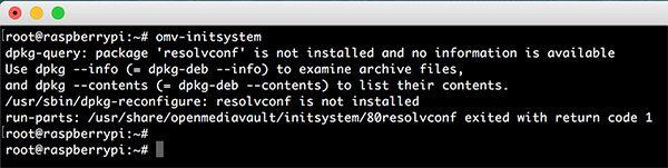 OpenMediaVault 4 omv init system