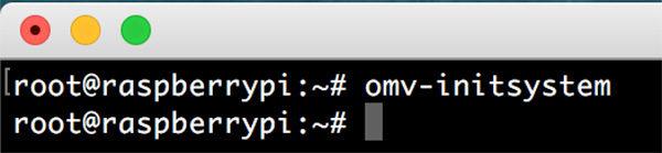 OpenMediaVault 4 omv init system success