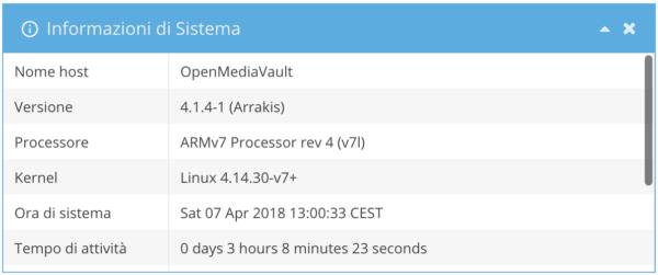OpenMediaVault 4 omv web interface