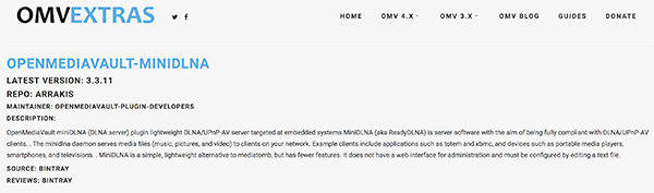 OpenMediaVault-4-omvextrasorg-plugin-minidnla
