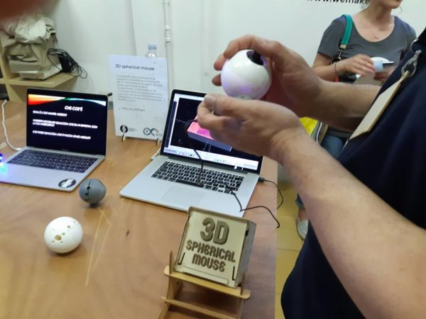 3d spherical mouse arduino day wemake