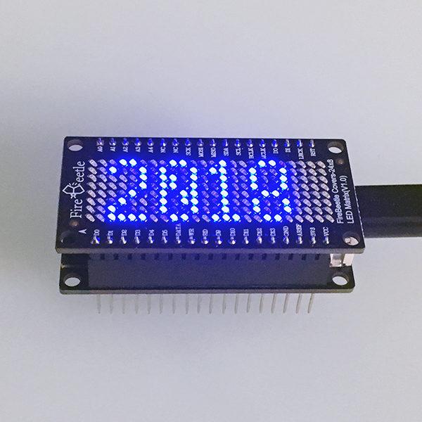 FireBeetle Led 24x8 Date e Clock date