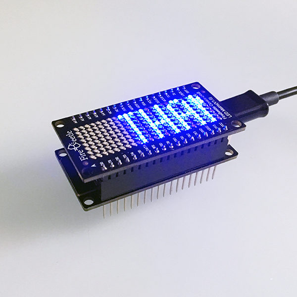 FireBeetle led Matrix scroll