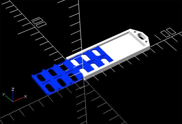 Flat Micro 12 SD Holder v1 Flat 12 MicroSD Card Tray v1 blue semi opened