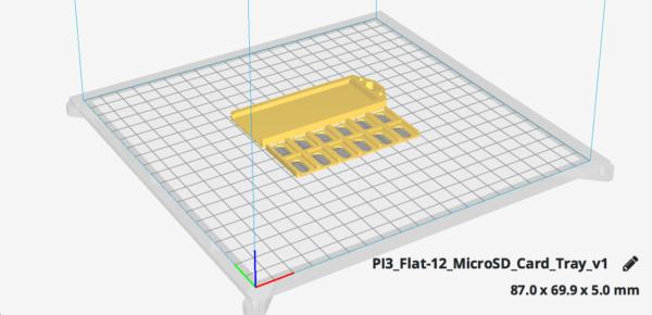 Flat 12 MicroSD Card Tray v1 ultimaker
