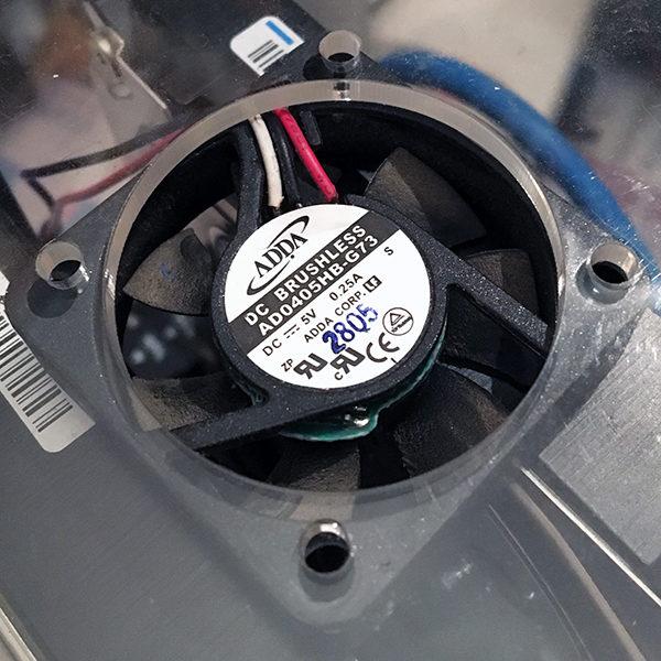 OpenMediaVault NAS temperature fan case fan mount