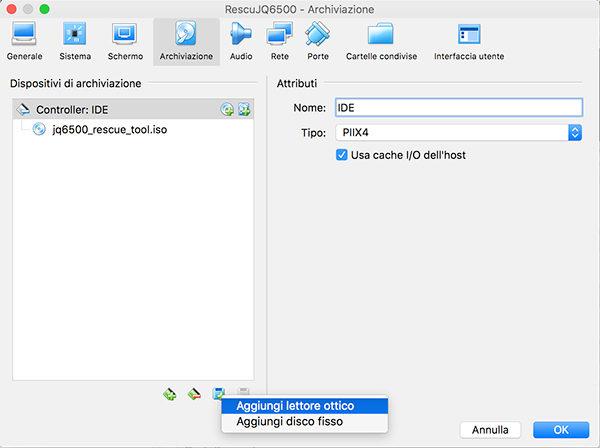 JQ6500 rescue tool virtualbox add new disk