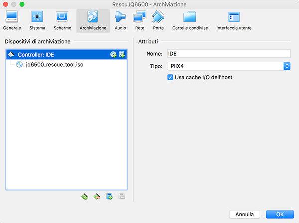 JQ6500 rescue tool virtualbox show disks