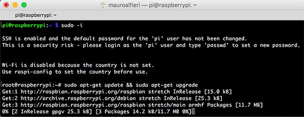 RPi USB Boot apt-get update