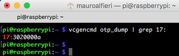 RPi USB Boot vcgencmd otp_dump