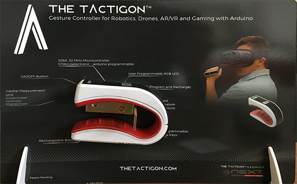 the tactigon maker gesture device