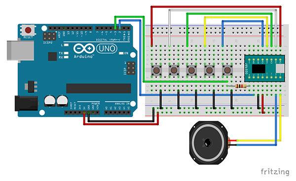 JQ6500 arduino schema