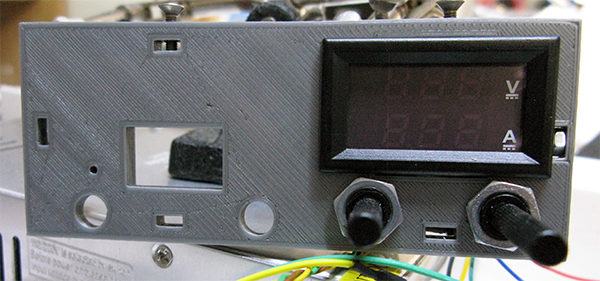 Power Supply DIY front panel mounting