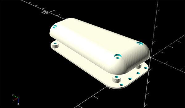 SpritzDress wearable MKR1000 case 3D top