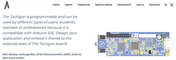 The Tactigon v2 site board