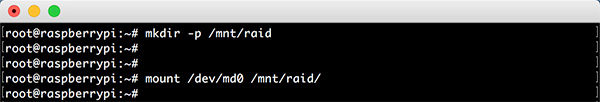 Raspberry RAID5 mdadm mount raid disk