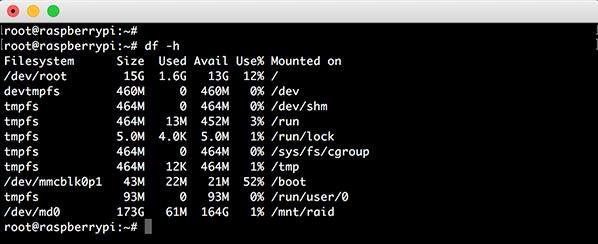 Raspberry RAID5 mdadm show new raid disk