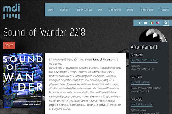 Sound of Wander 2018 Homepage
