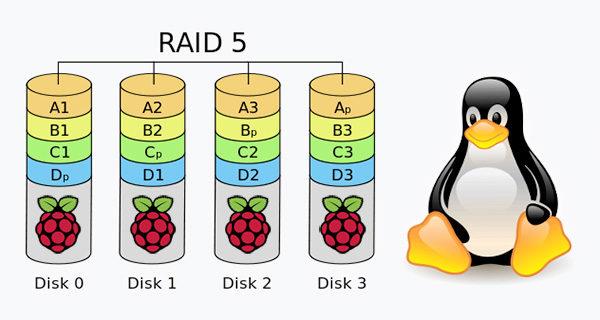 Raspberry RAID5 mdadm linux