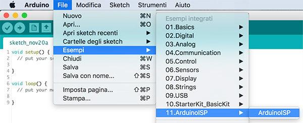 Lemontech Attiny Programmer IDE ArduinoISP