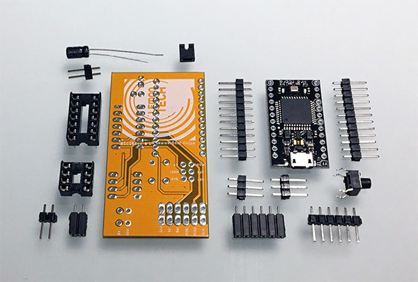 Lemontech Attiny programmer kit components