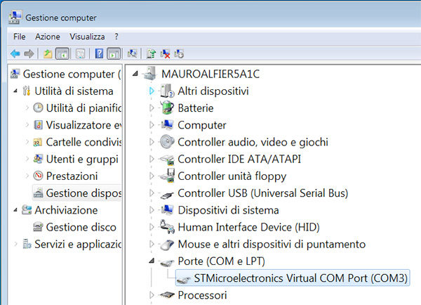 the tactigon arduino ide virtual driver installed