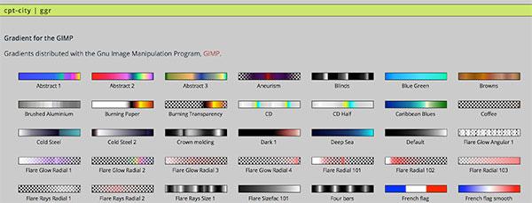 FastLed Neopixel Palette GIMP style