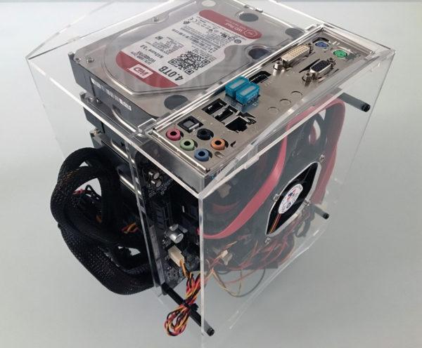 NAS Mini-ITX case mounted front