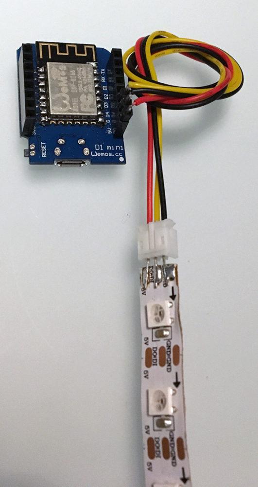 RGB Neopixel serial ws2812 wemos vert