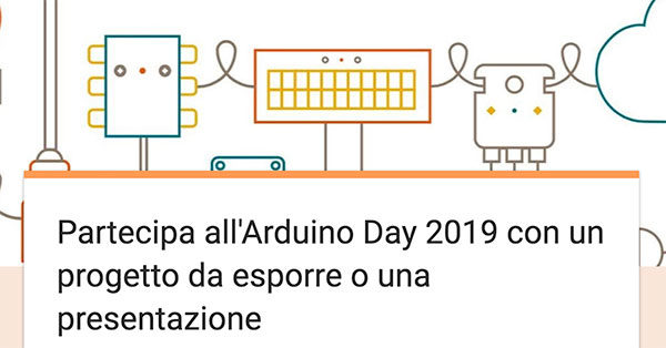 Arduino Day 2019 call for talk