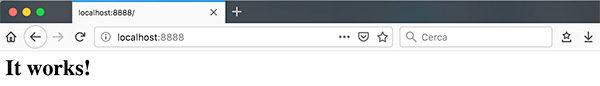 Docker VirtualBox httpd it works