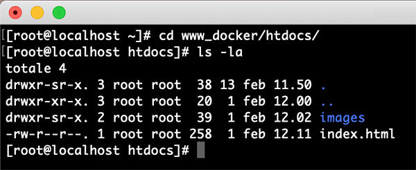 Docker containers share dir show dir
