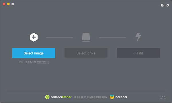RockPi4 install on eMMC balena select image