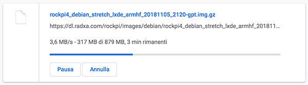 RockPi4 install on eMMC download progress