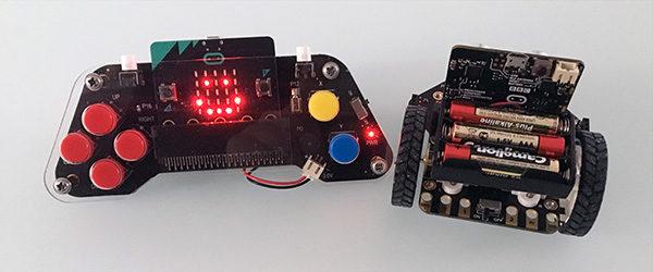 Micro:bit maqueen robot car e gamepad