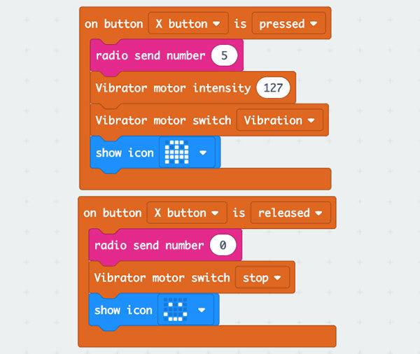 Maqueen Robot jpypad sketch X button
