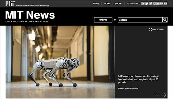 robot quadrupede mini ghepardo MIT Boston